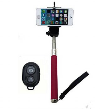 [holiczone] UFCIT Extendable Selfie Handheld Stick Monopod with Adjustable Phone Holder an/89245