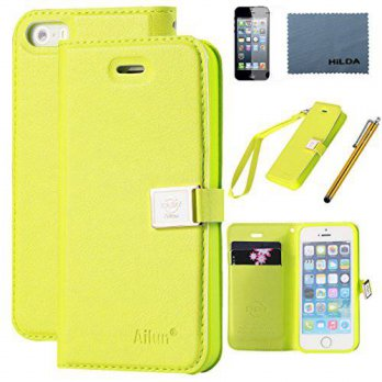 [holiczone] AILUN iPhone 5s case,iPhone SE case,iPhone 5 case,by Ailun,Wallet case,PU leat/93902