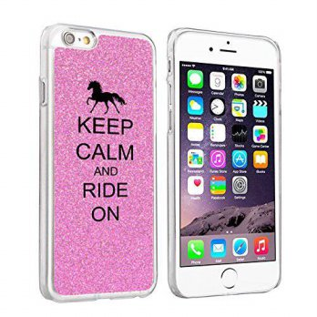 [holiczone] Daylor Apple iPhone 6 (4.7) Glitter Bling Hard Case Cover Keep Calm and Ride O/95990