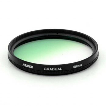 [holiczone] Albinar 58mm Green Graduated Gradual Color Filter/96592