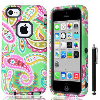 [holiczone] iPhone 5C Case,by ULAK,Soft TPU Skin and Hard Inner Shell Solid PC Back,Anti S/98507