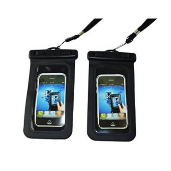 [holiczone] Set of 2, Faswin Universal Waterproof Phone Case. For Iphone 6, 5, 5s, 4, Sams/98144