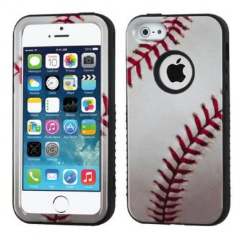 [holiczone] MyBat Hybrid Protector Cover for Apple iPhone 5S/5 - Retail Packaging - Baseba/98196