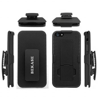 [holiczone] BEKASE (TM) Hard Shell Holster Combo protective Slim Case for Apple iPhone 5 //99125