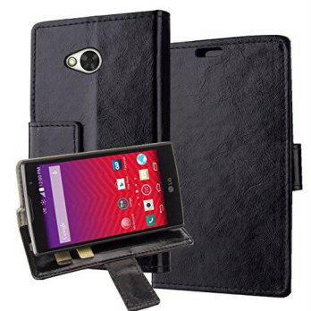 [holiczone] LG F60,LG Optimus F60 Case, LG Tribute Cover Aomax Wallet Card Slot View Stand/106509