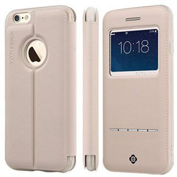 [holiczone] Ivencase For iphone 6 Plus (5.5 inches) , [Touch Series] [View Window] Folio F/110789
