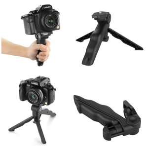2 in 1 Portable Mini Folding Hand Monopod Stand Tripod DSLR Camera
