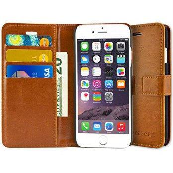 [holiczone] Caseen iPhone 6S Plus Case, iPhone 6 Plus Case, caseen Ottimo Leather Wallet S/114024