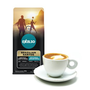 Excelso Brazilian Santos Coffee 200 gram - Ground / Bubuk