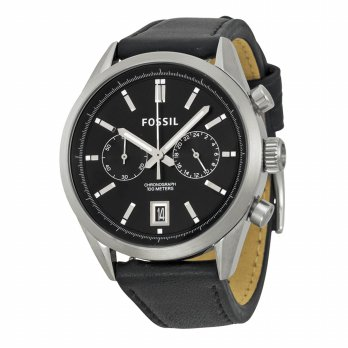 Fossil CH2972 Del Ray Chronograph Black Leather
