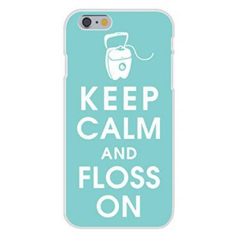 [holiczone] Hat Shark Apple iPhone 6+ (Plus) Custom Case White Plastic Snap On - Keep Calm/92992