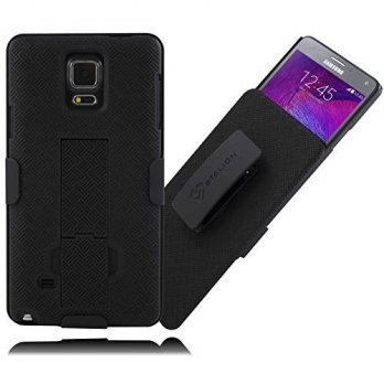 [holiczone] Galaxy Note 4 Holster: Stalion Secure Shell Case & Belt Clip Combo with Kickst/88328