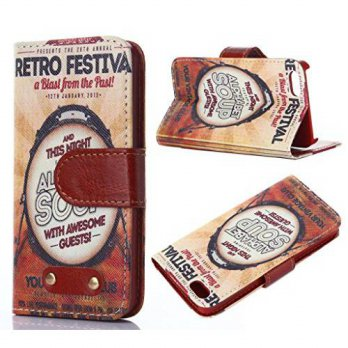 [holiczone] Macoku Classic Retro Leather Wallet Card Money Flip Cute Cover Lovely Pattern /91970