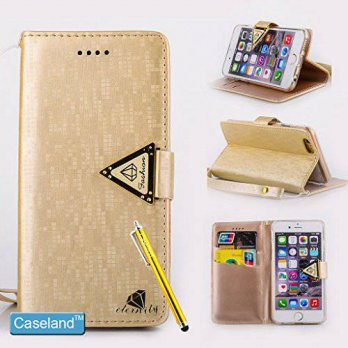 [holiczone] iPhone 6 Plus Case,iPhone 6 Plus Wallet Case,CASELAND Flip Cover PU Leather Wa/93251