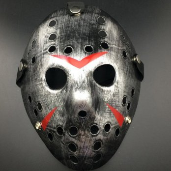 Jason mask hockey mask topeng jason silver