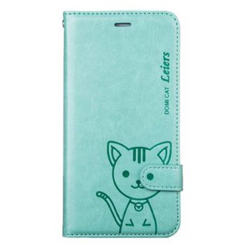 [holiczone] Bear life [Bear Life] Cute Lovely Domi Cat Flip Wallet Card Slot Leather Case /108866