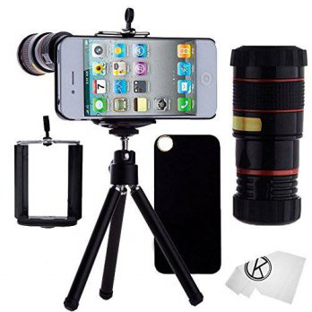 [holiczone] CamKix iPhone 4/4S Camera Lens - 8x Telephoto Lens, Mini Tripod, Universal Pho/114459
