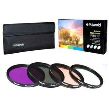 [holiczone] Polaroid Optics 37mm 4 Piece Filter Set (UV, CPL, FLD, WARMING)/127845