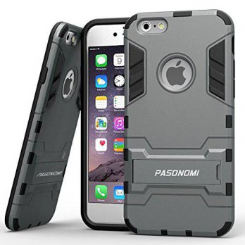 [holiczone] PASONOMI iPhone 6 Case, Pasonomi [Heavy Duty] [Shock-Absorption] [Kickstand Fe/130042