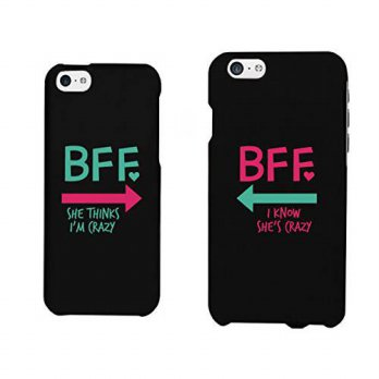 [holiczone] 365 Printing Funny BFF Phone Cases - Crazy Best Friend Phone Covers for iphone/134045