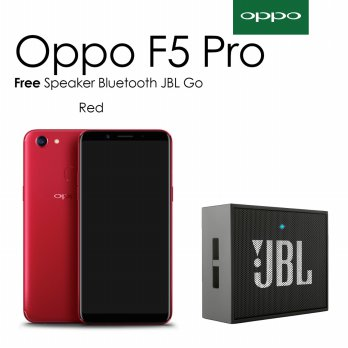 Oppo F5 Pro [ 6/64 GB ] Red - Free Speaker Bluetooth JBL Go