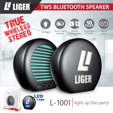 LIGER High Quality Mini Wireless  TWS L-1001 Bluetooth Speaker LED Portable Original Liger