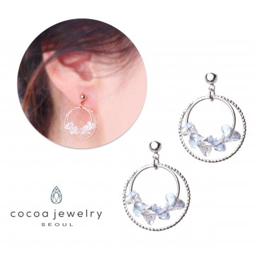 cocoa jewelry Anting Wanita Korea - Blinking Ctystal Varian
