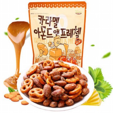CARAMEL ALMOND AND PRETZEL 210g X 4EA (Free Delivery)