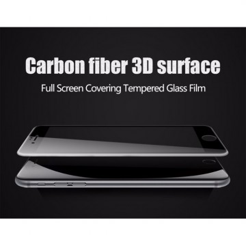 Grace Apple iPhone 6 / 6s Tempered Glass + PET - 3D Full Cover - Lis Hitam