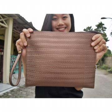 Motif fashion Clutch - Coklat