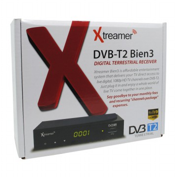[esiafone smart buy] XTREAMER Full HD Set Top Box DVB-T2 BIEN 3 and HDMI Media Player (Original)