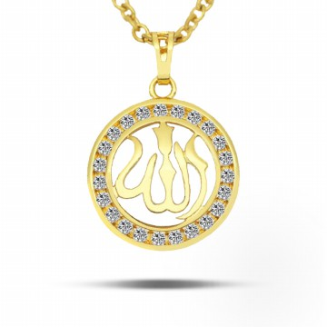 [FREEONGKIR] Gold Plated Muslim Allah Women Necklace #CLA17060501W08