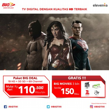 [TV Berlangganan] BIG TV - BIG DEAL Package 3   3 (BASIC ADD ON)