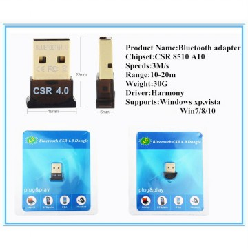 Mini USB Bluetooth V4.0 Dongle Dual Mode Wireless Adapter Device