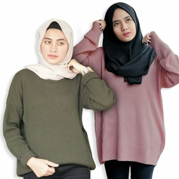 12 WARNA BASIC PREMIUM SWEATER / BOXY SWEATER / LOOSE SWEATER / PLAIN SWEATER/ 12 COLORS baju wanita