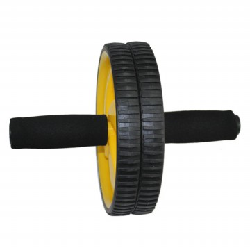 Alat Fitness Double Wheel Roller