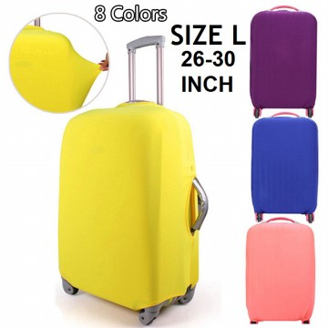 FIRSTPROJECT SARUNG PELINDUNG KOPER KAIN POLOS ELASTIS - ELASTIC LUGGAGE COVER SIZE L FOR 26-30 INCH