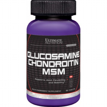 Ultimate Nutrition Glucosamine, Chondroitin, & MSM 90 tabs | Suplemen persendian