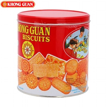 KHONG GUAN BISKUIT ASSORTED RED MINI 650Gr