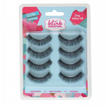 Bulu Mata Blink Charm Eyelashes Sexy Volume#2 - 4 Pairs [buy 2 get 1 Eyelash Glue 5 ml]