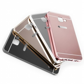 Delcell Mirror Case Metal Bumper Sliding Luxury Case All Type