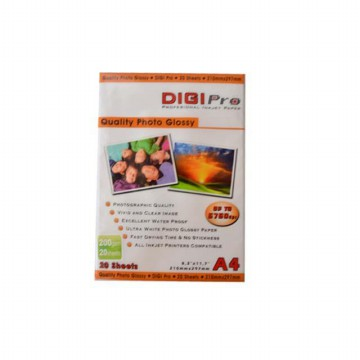 GLOSSY PHOTO PAPER / Kertas Foto Glossy A4 200 gram DIGIPRO