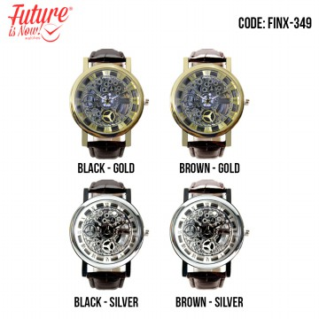 [Future Is Now] Jam Tangan Analog Pria & Wanita Strap Leather FINX-349