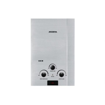 Modena Water Heater Gas GI-6S / Silver Stainless