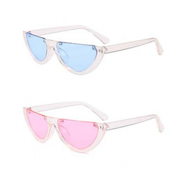 kacamata fashion setengah lingkaran transparan / women glasses jgl048