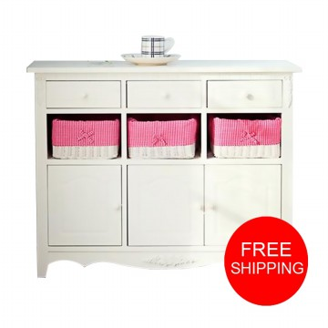 LEMARI JASMINE 9 DRAWERS WHITE
