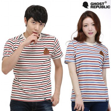 [GHOST REPUBLIC] 2015 SUMMER NEW STRIPE T-SHIRTS GT-383