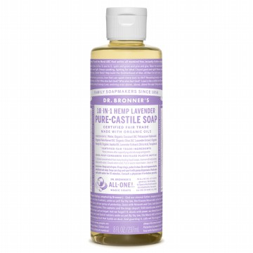 Dr. Bronner's Magic Pure Lavender Liquid Castile Soap 237ml