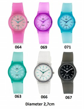 JAM TANGAN Q&Q Q Q QQ ANALOG CLASSIC RUBBER BAND WATCH 089-092 - WATER RESIST