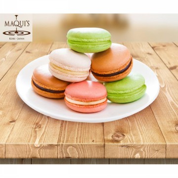 MAQUI'S Macaroon 1 Box isi 6 Pcs: Chocolate/ Strawberry/ Vanilla/ Green Tea/ Blueberry/ Pineapple